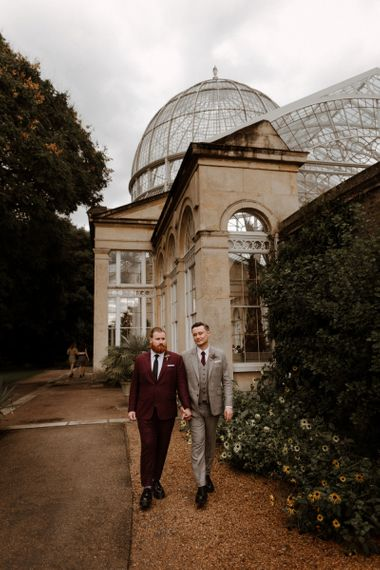 same sex portrait by The Curries at Syon Park wedding