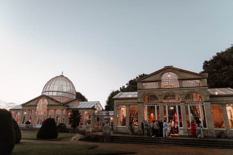 Syon Park wedding venue at dusk
