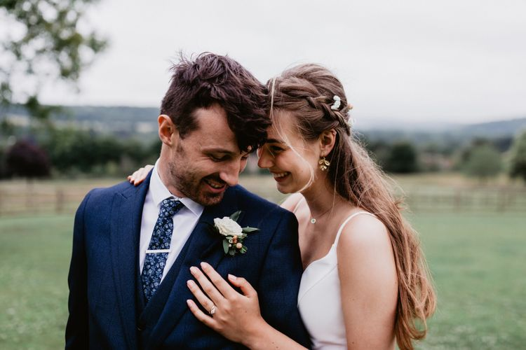 Intimate bride and groom portrait at 2020 wedding