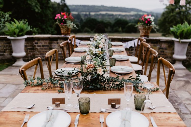 Intimate outdoor reception for 2020 wedding