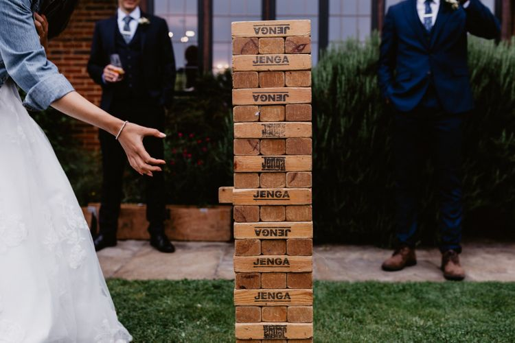 Giant Jenga garden games