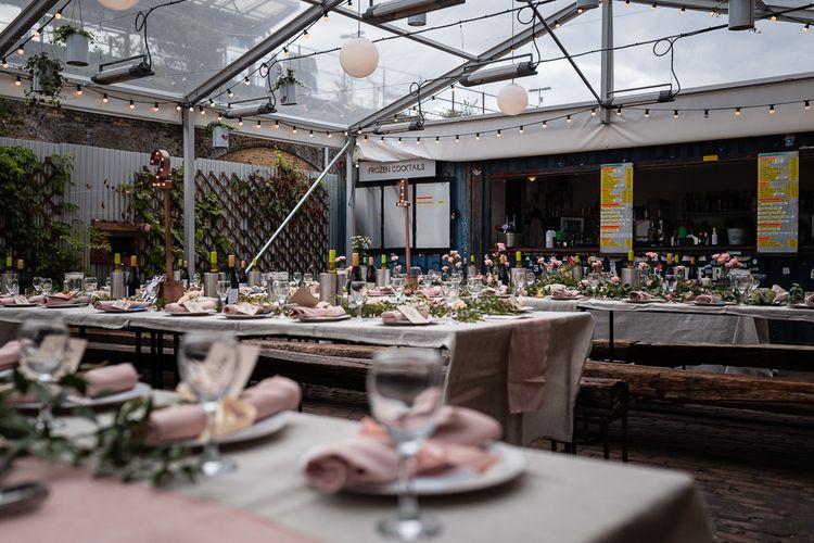 Romantic Pink Wedding Decor at Peckham Springs Wedding Reception