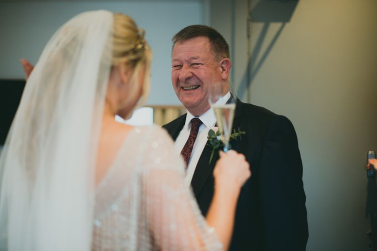 Father of The Bride Sees Daughter For First Time