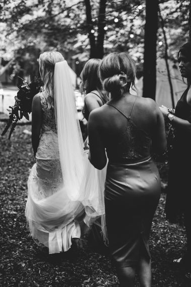 Bridal Party | Burgundy Outdoor Woodland Ceremony & Country Tipi & Horse Bar Reception at The Ancient Woodland, Hertfordshire, Planned & Styled by Caroline Hitchcock Events | Alex Wysocki Photography | DgtlCouture Film