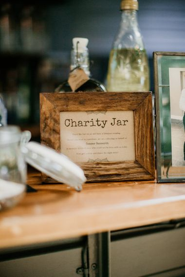 Charity Jar | Burgundy Outdoor Woodland Ceremony & Country Tipi & Horse Bar Reception at The Ancient Woodland, Hertfordshire, Planned & Styled by Caroline Hitchcock Events | Alex Wysocki Photography | DgtlCouture Film