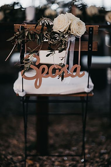Wedding chair back decor