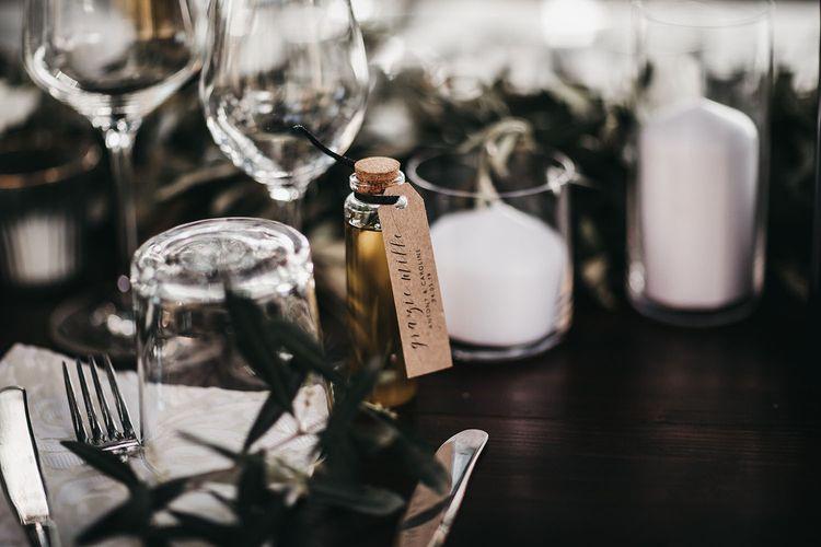Black and white wedding decoration