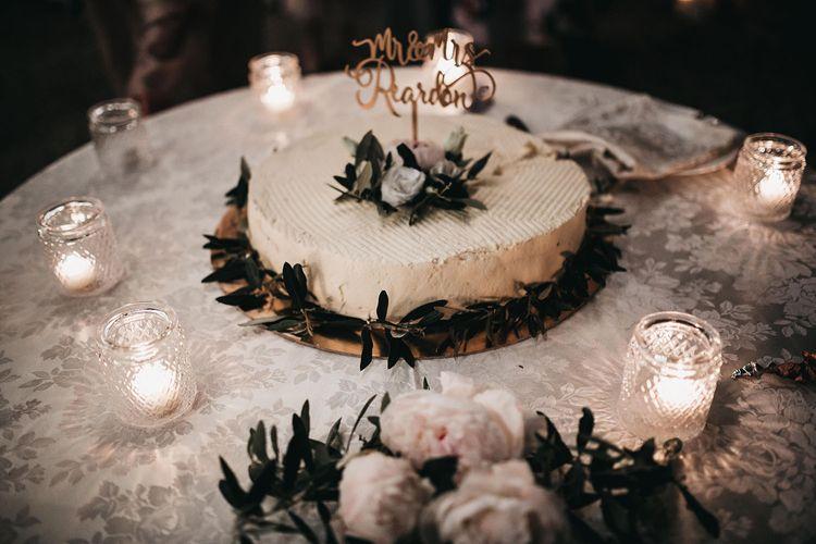 Wedding cake for Italian black and white  wedding