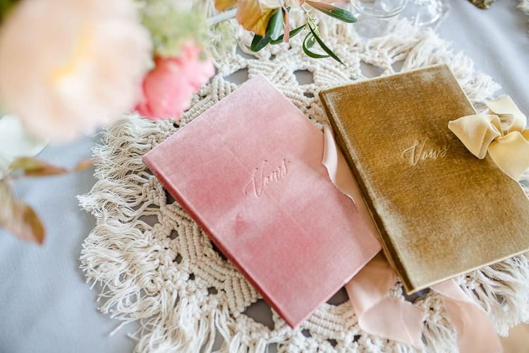 Velvet Vows Book From Elmo Paper Stories // Environmentally Conscious Wedding Venue Casterley Barn In Wiltshire Organic Working Farm Stylish Barn Wedding Venue Images Lydia Stamps
