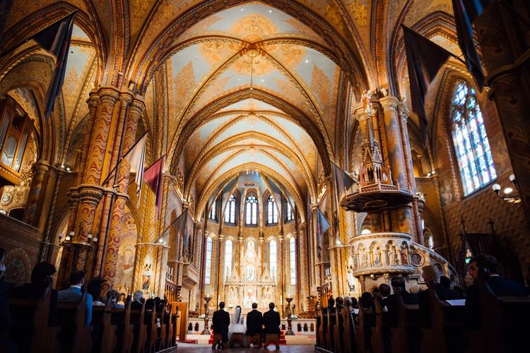 Wedding Ceremony at Matthias Church in Budapest