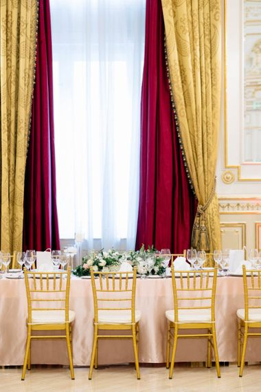 Luxe Gold Wedding Reception Decor