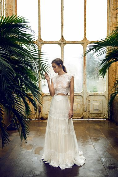 Catherine Deane Lace Music Skirt and Itala Top Bridal Separates