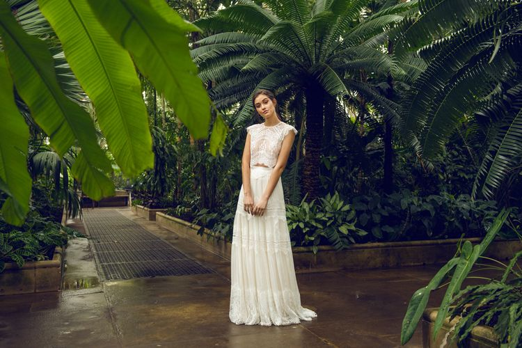 Catherine Deane Lace Music Kirt and Itala Top Bridal Separates
