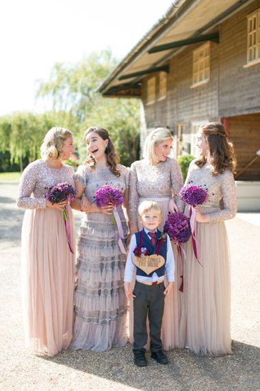 Bridesmaids in Sequin & Tulle Needle & Thread Dresses