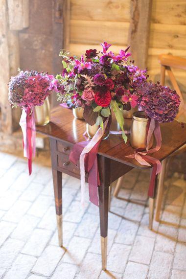 Purple, Plum, Aubergine and Berry Wedding Flowers