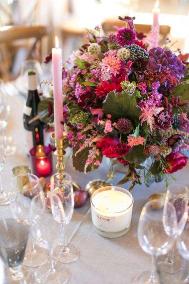 Purple, Plum and Aubergine Wedding Flowers