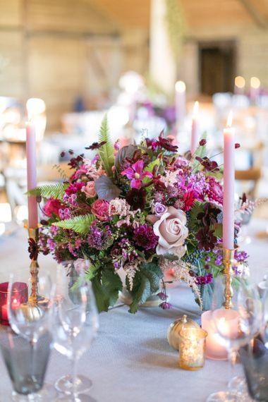 Purple, Plum, Berry and Aubergine Wedding Flowers
