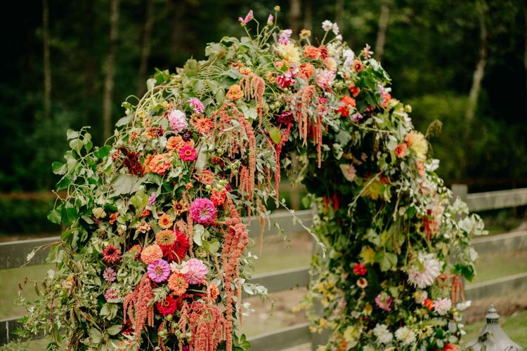 DIY flower arch alar decor