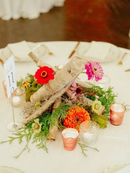 DIY flower centrepiece with anemones