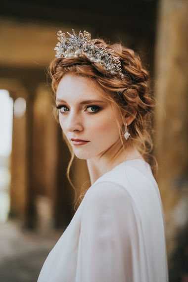celestial bridal crown