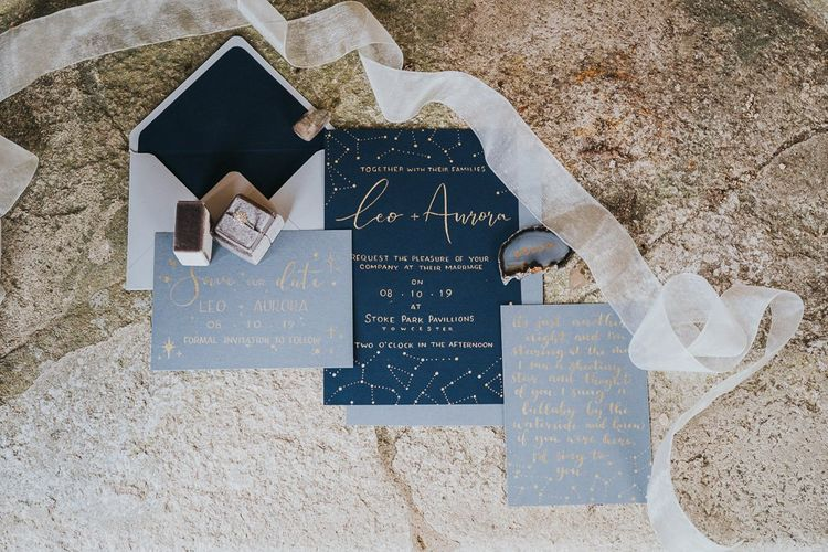 celestial wedding stationery suite