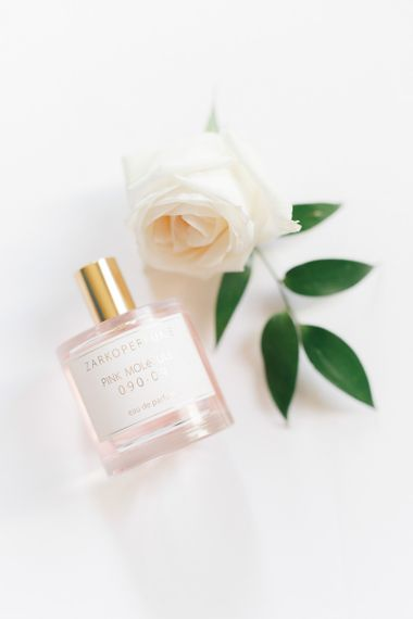 Wedding perfume with florals at whimsical wedding