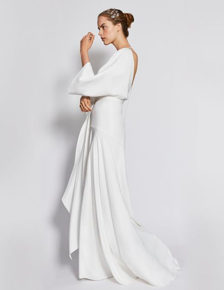 Charlie Brear Day For Night Collection // Nyika Dress By Charlie Brear // Minimal Bridalwear Wedding Dress Occasionwear Dress By Charlie Brear