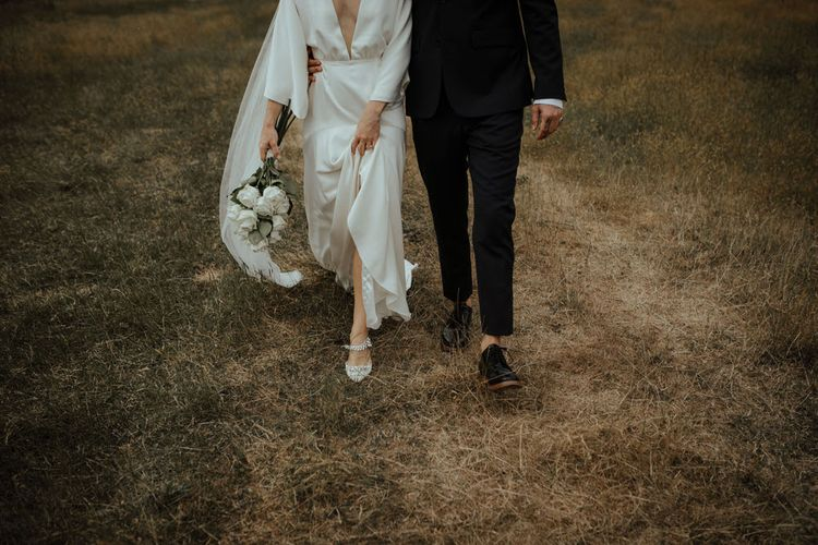 Bespoke Charlie Brear Wedding Dress For Jessie Of We The People // Image By Ana Galloway