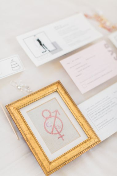 Map Wedding Stationery // Needle & Thread Bridesmaids Dresses For A Pink And Mint At Home Marquee With Fine Art Photography From Amy Fanton Photography