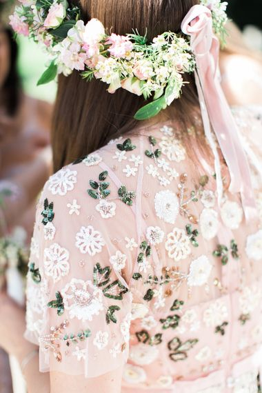 Needle & Thread Bridesmaids Dresses For A Pink And Mint At Home Marquee With Fine Art Photography From Amy Fanton Photography