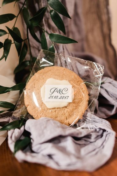 Cookie Wedding Favour | Elegant Grey, Green, White & Gold Black Tie, Marquee Wedding at Tullyveery House N. Ireland with Decor & Styling by Mood Events | The Lou's Photography | Soul & Rise Film