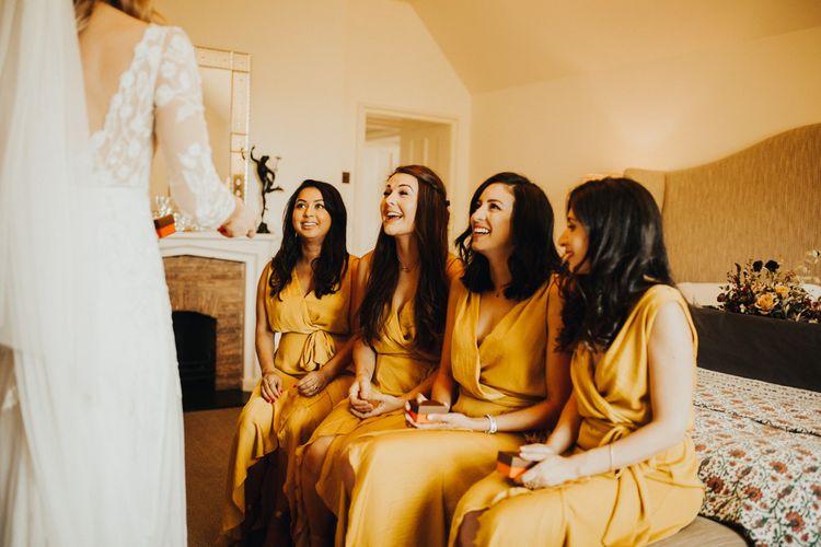 Yellow bridesmaid dresses for summer wedding