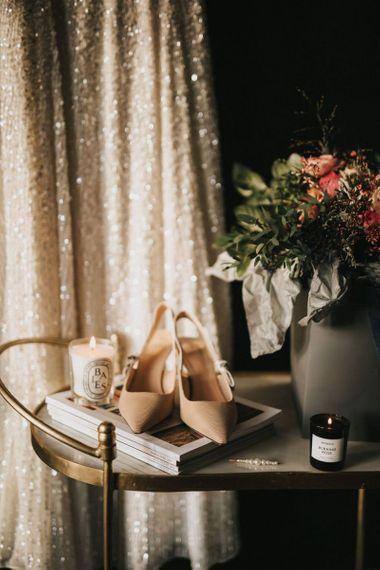 Nude wedding shoes for  Healing Manor wedding