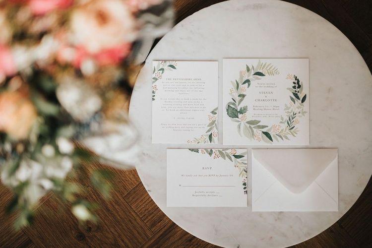 Wedding stationery for intimate wedding