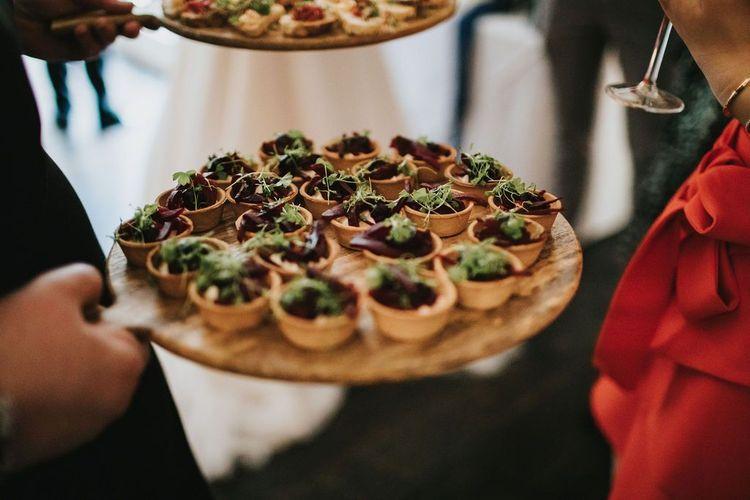 Canapés at Healing Manor wedding