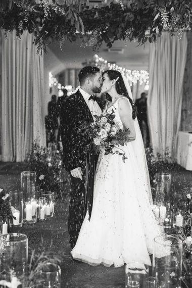 Bride and groom at Healing Manor wedding