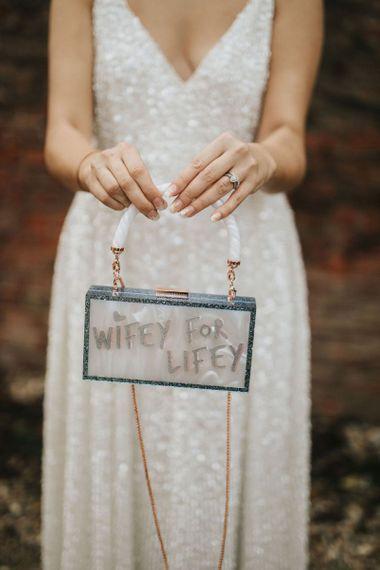 Personalised bridal bag