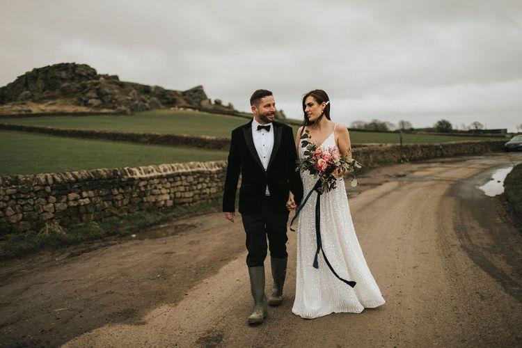 Bride and groom at Grimsby wedding venue