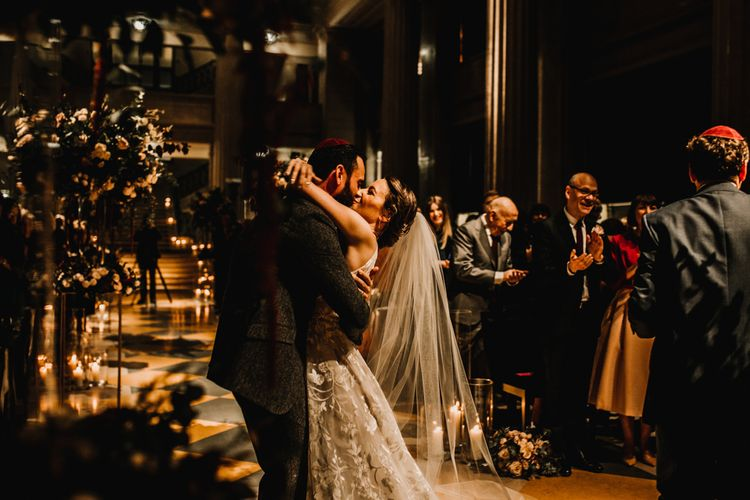 Jewish Blessing with Bride in Hayley Paige Wedding Dress