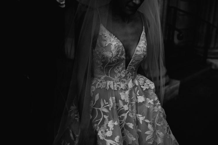 Bride in Lace Hayley Paige Fleur de lis Wedding Dress