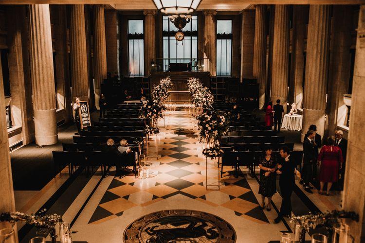 Jewish Wedding Ceremony at Banking Hall in London