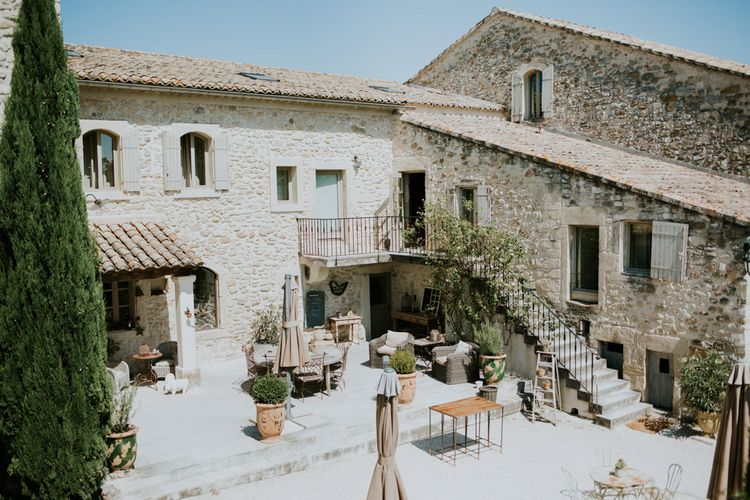 Quaint Courtyard of Provence Wedding Venue