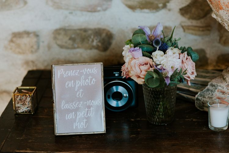 Polaroid Camera Guest Book