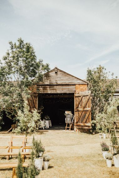 Barn at Fishley Hall | Outdoor Ceremony at Fishley Hall with Grace Loves Lace Fringe Dress | Darina Stoda Photography