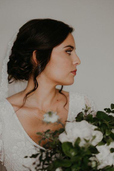 Bridal Updo for glasss house wedding