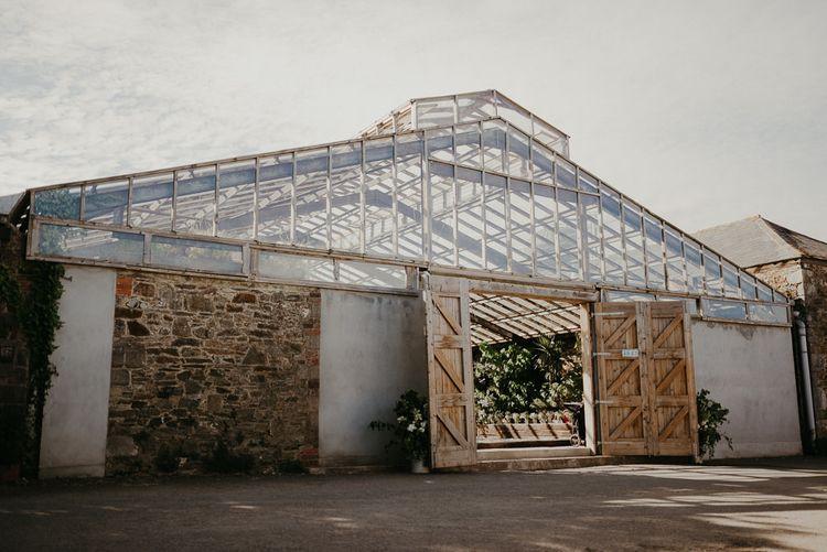 Glass house wedding venue in Devonshire