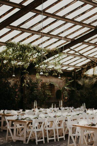 Glass house wedding venue in Devon