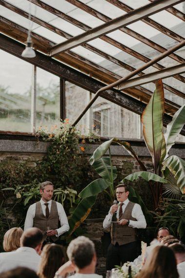 Wedding speeches at Anran in Devon