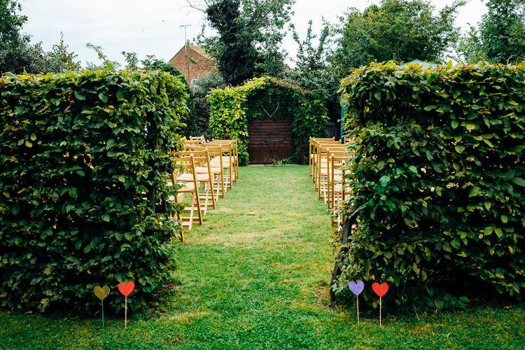 Garden Wedding Ceremony | Bright DIY 'At Home' Outdoor Garden Ceremony & Marquee Reception | Marianne Chua Photography