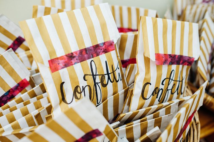 Confetti Bags | Bright DIY 'At Home' Outdoor Garden Ceremony & Marquee Reception | Marianne Chua Photography